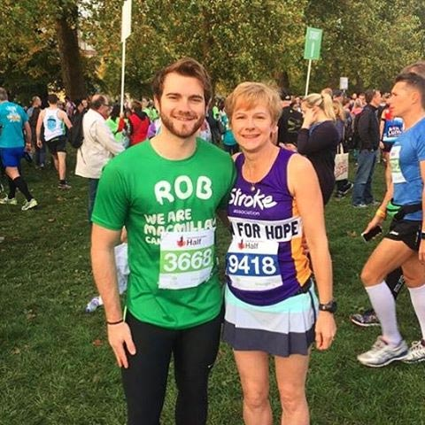 A photo of my mum and me before the start of the RPF Half Marathon